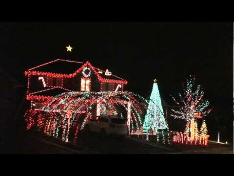 Beautiful Christmas Light Sound Display Home Video By
