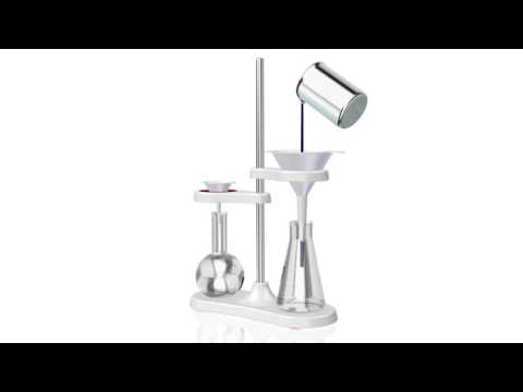 Funnel stand for two funnels