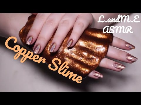 ASMR 💆 || glittery copper PUTTY SLIME! ✨|| no talking 🤐 ||