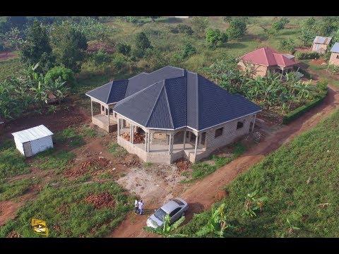 House aerial simulation footage in Kampala Uganda