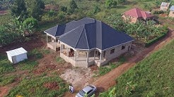 House aerial simulation footage in Kampala Uganda