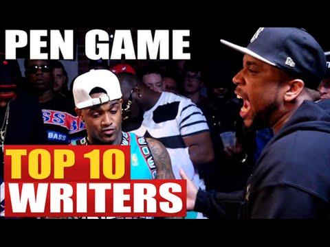 TOP 10 WRITERS IN BATTLE RAP