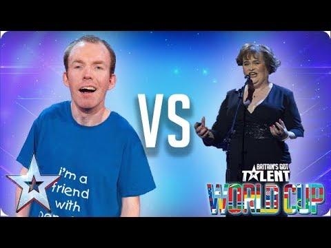 KNOCKOUT MATCH: Lost Voice Guy vs Susan Boyle   Britain's Got Talent World Cup 2018