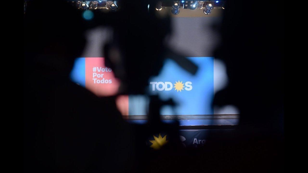En vivo desde el comando electoral del Frente de TODOS.