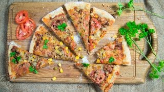 Пицца Чили кон карне. Пицца с фаршем
