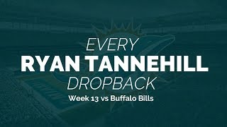 Every Ryan Tannehill Dropback - Week 13 vs Buffalo Bills