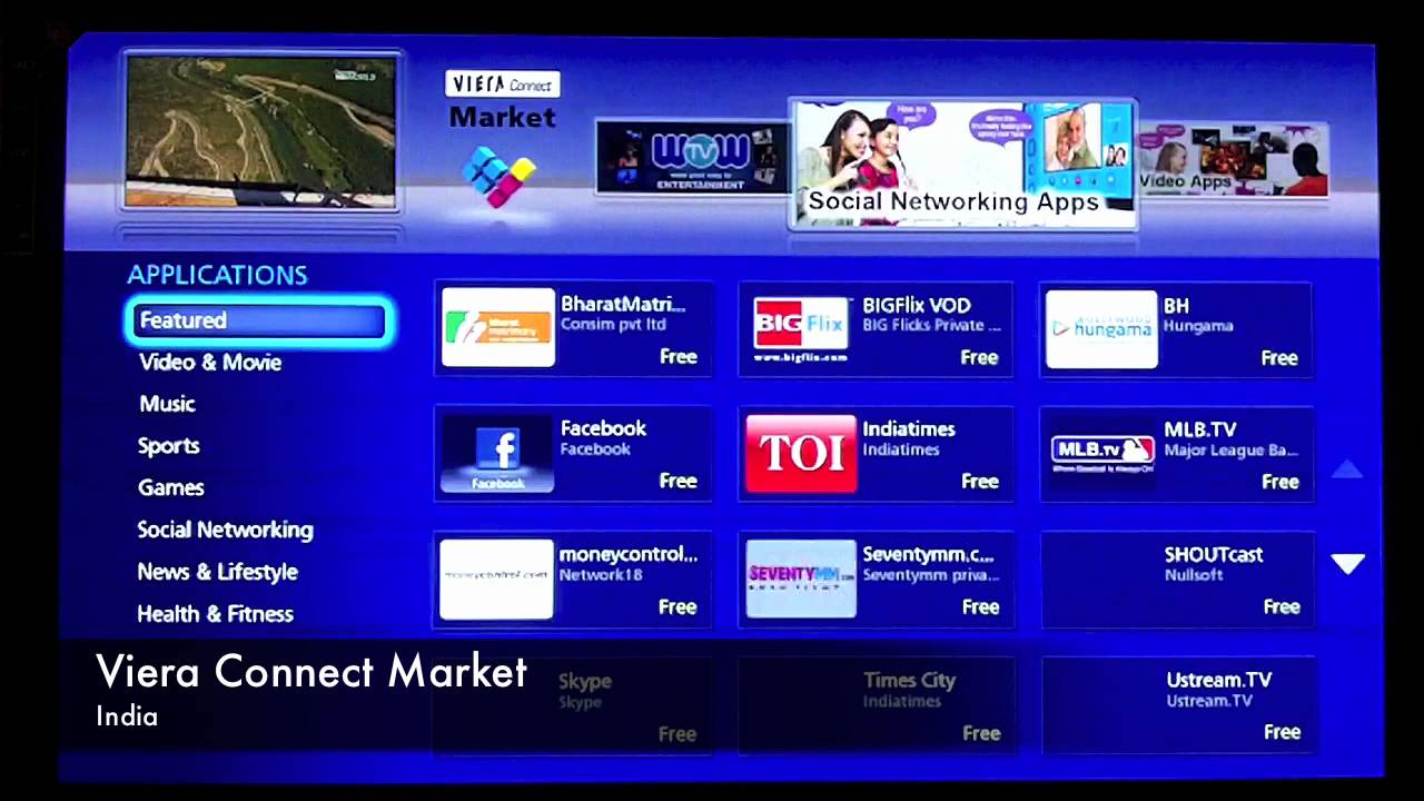 panasonic tv apps