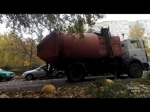Охота за мусоровозом. Сколько контейнеров подымет мусоровоз. Видео для детей.