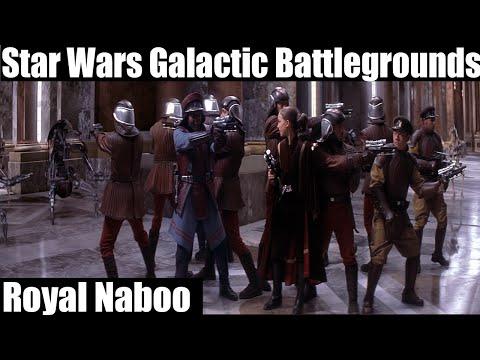 Star Wars Galactic Battlegrounds Gameplay - Royal Naboo