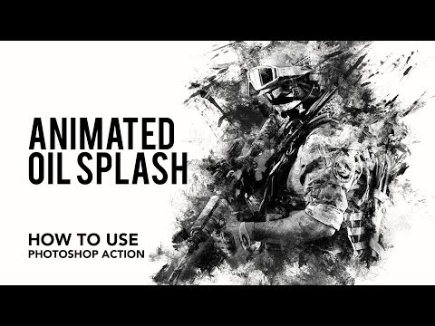 Tutorial - How to use Animated Oil Splash Photoshop Action