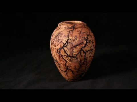 Woodturning with Tim Yoder- Lichtenberg Fractal Burned Vesse