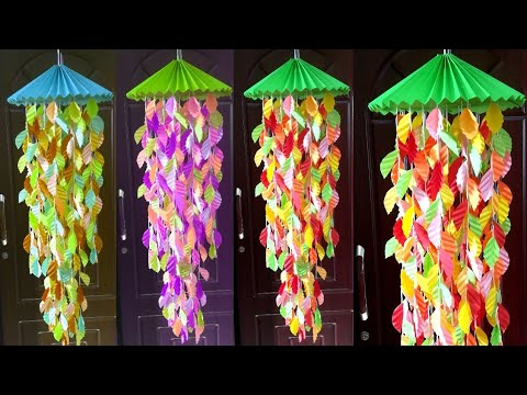 How To Make Wind Chimes Out of Paper// Wind Chimes Easy and Simple// DIY Paper Wall Hanging