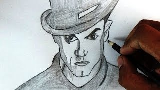 How to draw Amir Khan in Dhoom 3 Angry Look