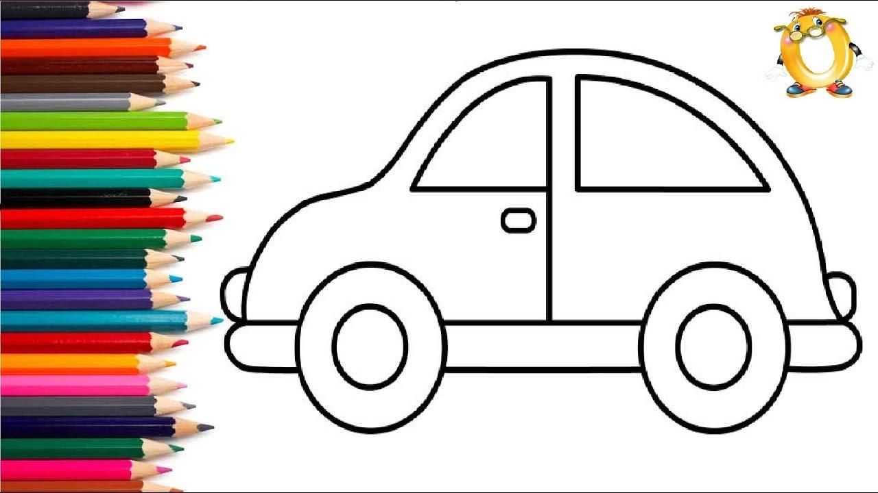 раскраска для детей машинки мультик раскраска учим цвета
