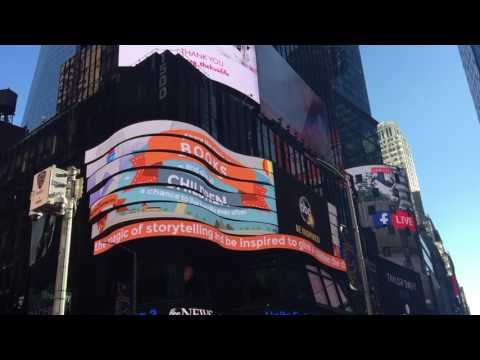 NYC inspirational LED screens