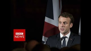 FULL INTERVIEW: French President Emmanuel Macron on Brexit and Trump - BBC News