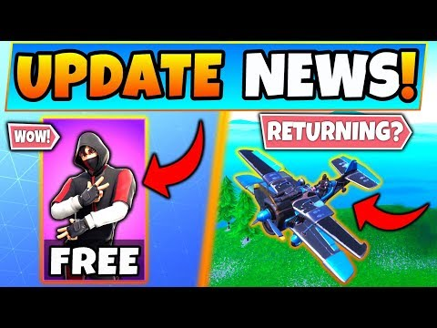 NEW Fortnite Update: iKONIK Skin for FREE?! + Planes Returning? - 8 News Things in Battle Royale! thumbnail