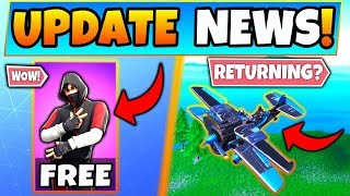 NEW Fortnite Update: iKONIK Skin for FREE?! + Planes Returning? - 8 News Things in Battle Royale!