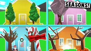 I DID THE SEASONS HOUSE CHALLENGE ON BLOXBURG! (Roblox)