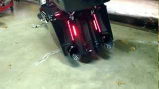 2006 Harley Street Glide - Bassani Boom Cans, Baddad Fender, Stretched tank, Saddlebag