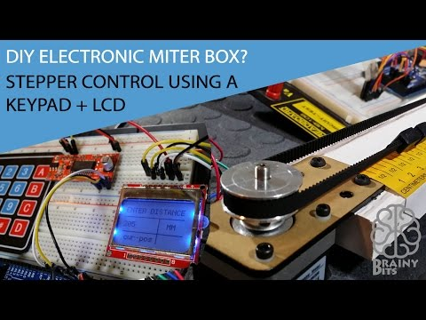 Arduino Diy Electronic Miter Box Stepper Control With Keyp