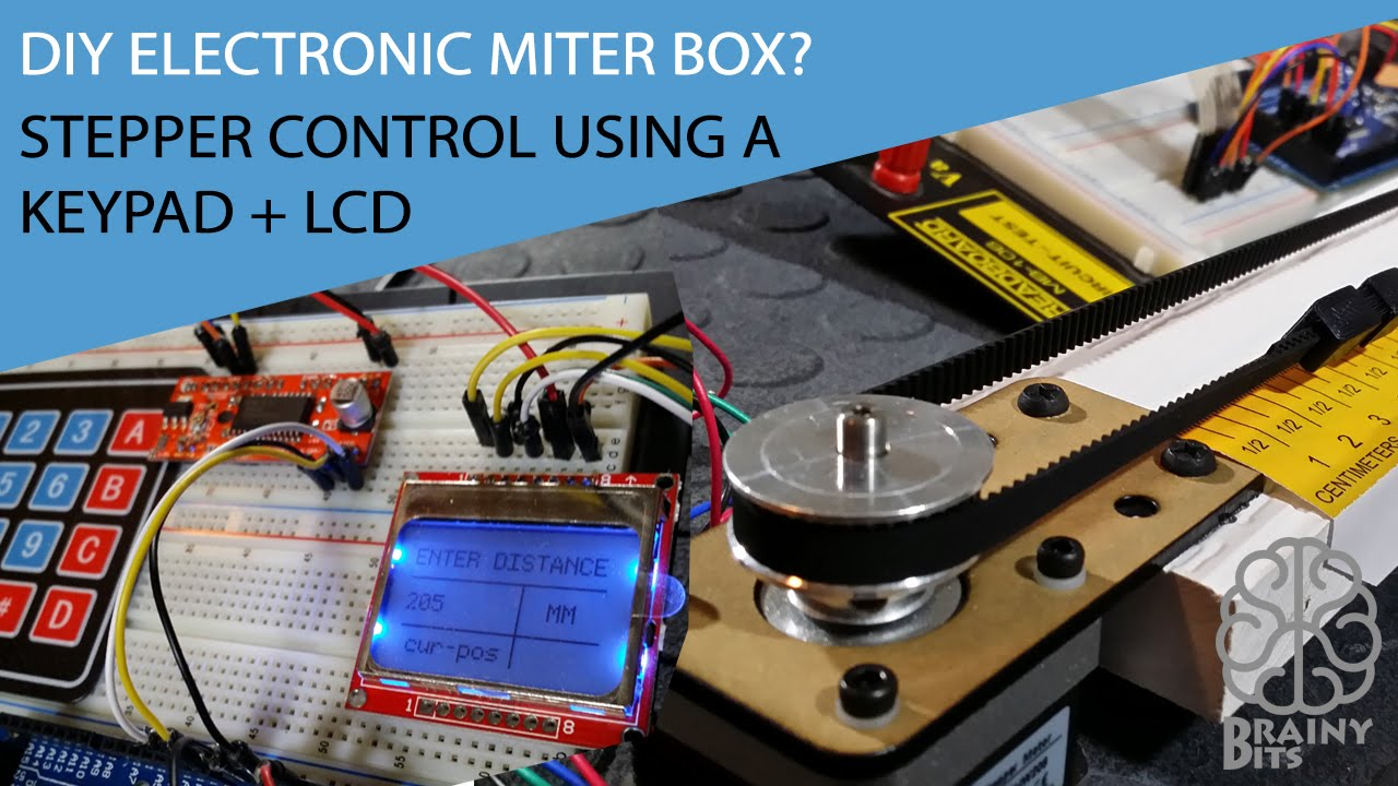 Electronic Miter box! Control a Stepper Motor with a Keypad