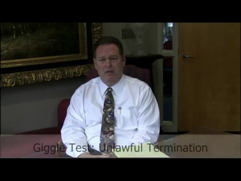 The Giggle Test - Unlawful Termination - Employment Attorney John Bolanovich | Bogin, Munns & Munns