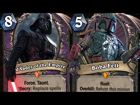 TOP CUSTOM STAR WARS CARDS! May The 4-Mana 7/7 Be With You! | Hearthstone