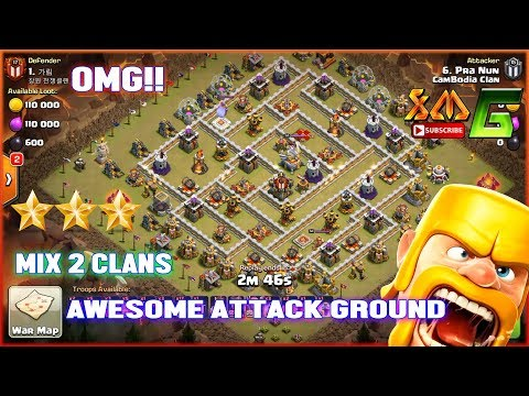 Clash of Clans⭐MIX 2 CLANS WITH AWESOME ATTACK⭐QW+BOWIPE⭐HOG⭐GIBOWITCH⭐BOWITCH
