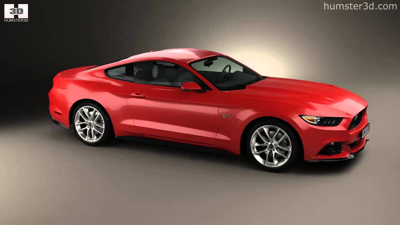 Ford mustang gt 2015 by 3d model store humster3d com