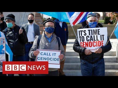 Uighurs demand action against China ahead of G7 meeting - BBC News