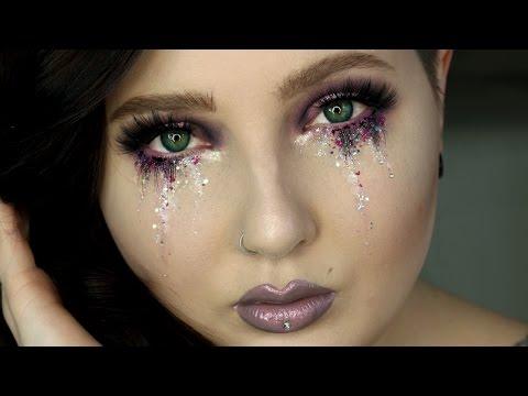 Glitter Tears Eye Makeup Tutorial | Jordan Hanz