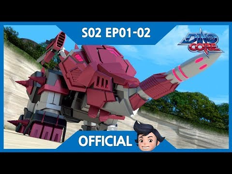 [DinoCore] Official | The appearance of a new evil, Vito | Tyranno Robot Animation | S02 EP01-02