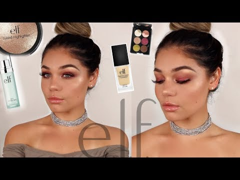 FULL FACE USING ONLY E.L.F MAKEUP TUTORIAL | Blissfulbrii