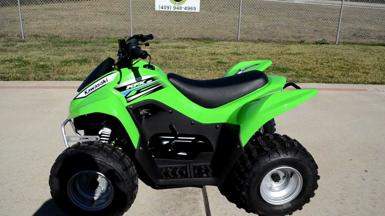 Review: 2012 Kawasaki KFX90 Youth ATV - YouTube