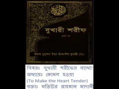 [Bangla] Bukhari Sharif Explanation: Book 76.Kitabur Riqaq by Motiur Rahman (Part 2/20)