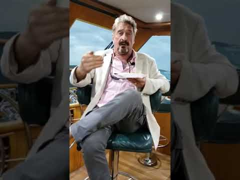 John McAfee Talks About The Fact Of Escaping From America