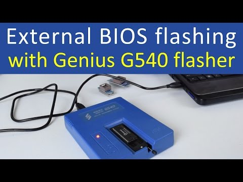 External BIOS flashing with Genius G540 flasher programmer
