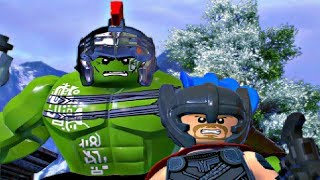 LEGO Marvel Super Heroes 2 - HULK & THOR Free Roam Gameplay (Thor Ragnarok)