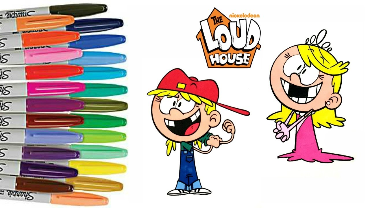 the loud house coloring book twins lola and lana how to color