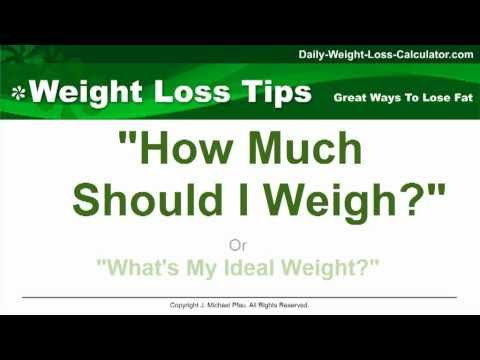 HOW MUCH SHOULD I WEIGH? WHAT IS MY IDEAL BODY WEIGHT?