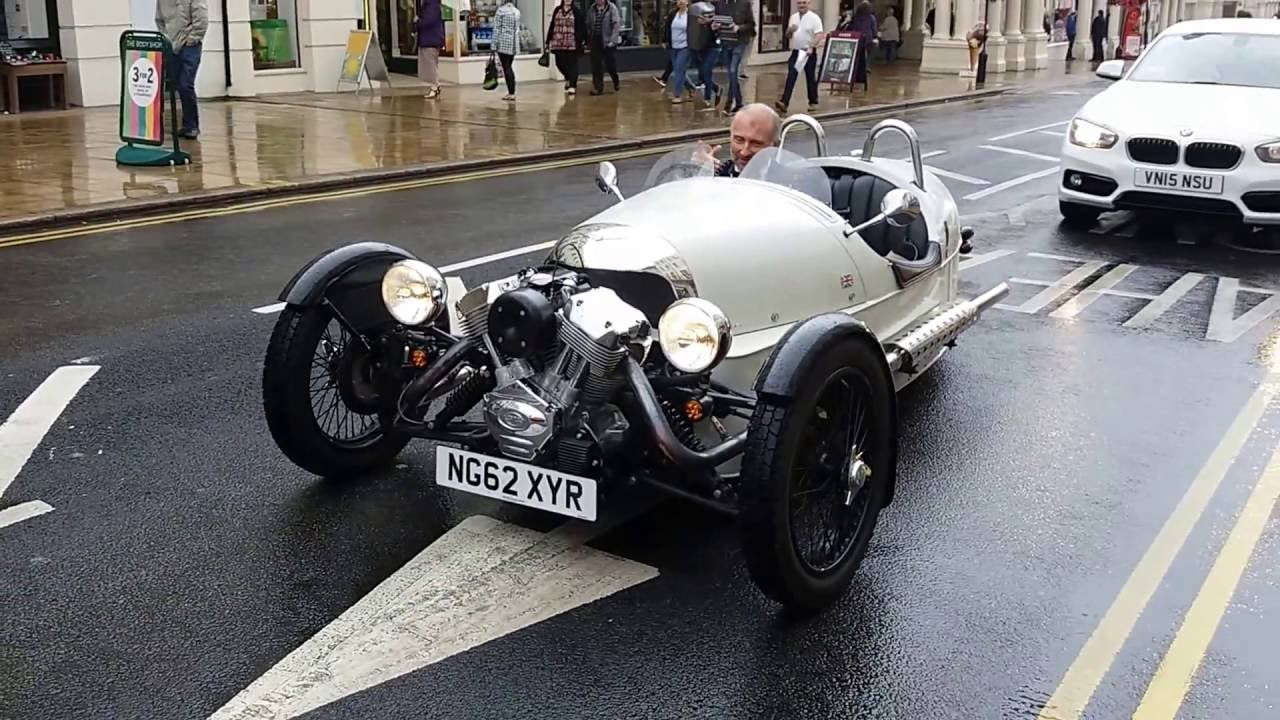 Morgan 3 Wheeler Classic Car Driving Video 1080p Youtube