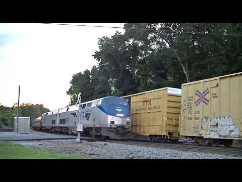 The Amtrak Crescent #20 w/ Cool Crew & Dover Harbor! Mableton,Ga 06-24-2017©