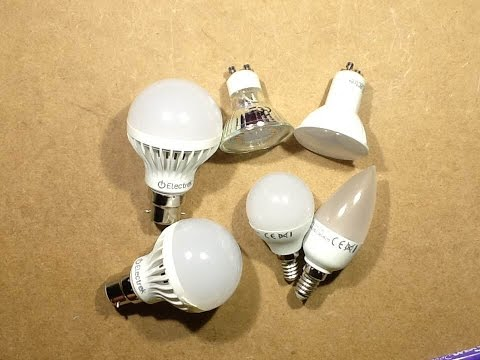 New, and VERY interesting Poundland 5W LED lamps.