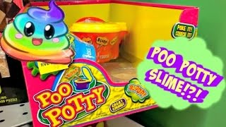 NEW POO POTTY SLIME AT 5 BELOW!!!!