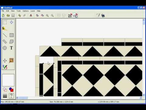 Victorian floor created with precision tile software youtube for Tile floor layout tool