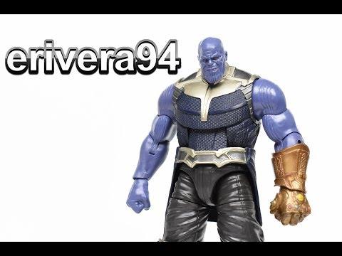 Marvel Legends THANOS Build A Figure BAF Avengers Infinity War Wave Action Figure Toy Review