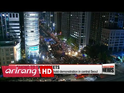Mass demonstration held in Seoul over Choi Soon-sil scandal