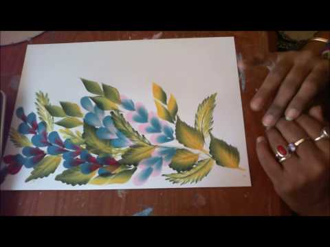One Stroke Painting Tutorial- Simple Composition