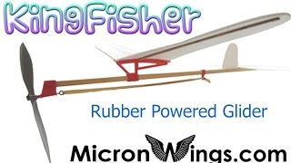 Balsa And Depron Rubber Powered Kingfisher Glider